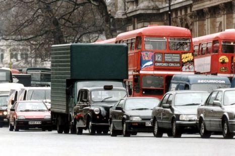 The famous London traffic jam (picture: metro.co.uk)